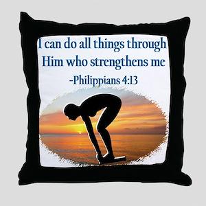 CHRISTIAN SWIMMER Throw Pillow