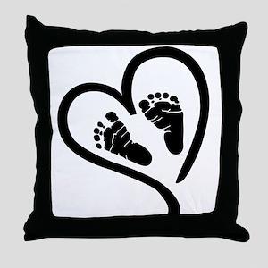 Baby Heart (Maternity) Throw Pillow