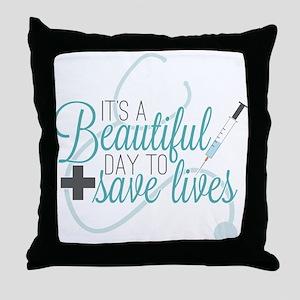 Grey's Anatomy: A Beautiful Day Throw Pillow