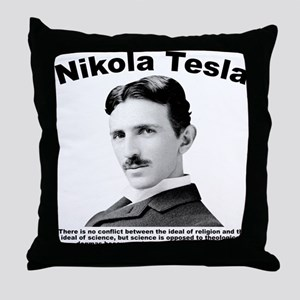Tesla: Religion Throw Pillow