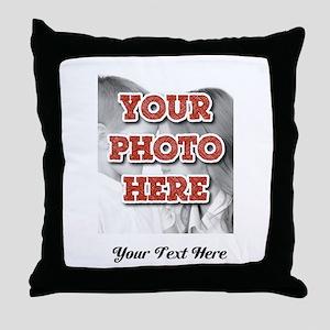 CUSTOM 8x10 Photo and Text Throw Pillow