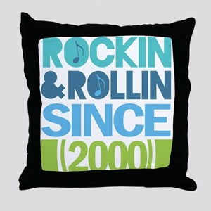 2000 Birthday Throw Pillow