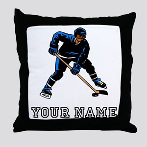 Hockey Player (Custom) Throw Pillow