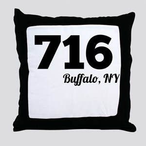 Area Code 716 Buffalo NY Throw Pillow