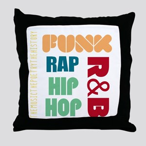 Music History Throw Pillow