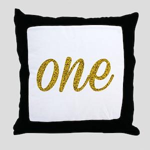 One Script Throw Pillow