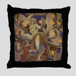 Hercules and the Hydra Throw Pillow
