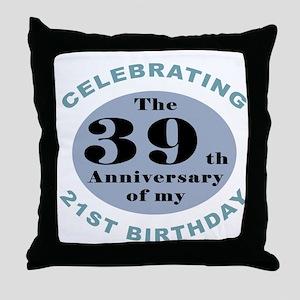Funny 60th Birthday Throw Pillow