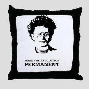 Leon Trotsky: Permanent Revolution Throw Pillow
