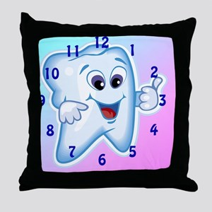 ThumbsUpClock3 Throw Pillow