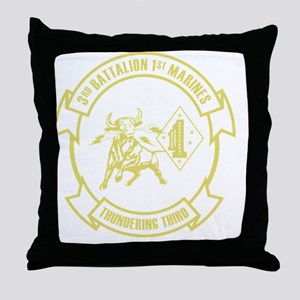 3rd Battalion 1st Marines Front Throw Pillow
