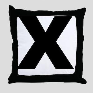 arial-black-black-x Throw Pillow
