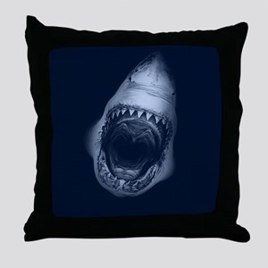 Big Shark Jaws Throw Pillow