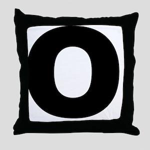 arial-black-black-o Throw Pillow