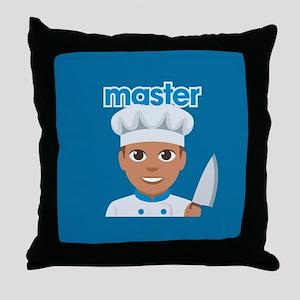 Emoji Master Chef Throw Pillow