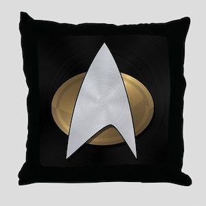 STARTREK TNG METAL 5 Throw Pillow