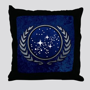 STARTREK UFP STONE Throw Pillow