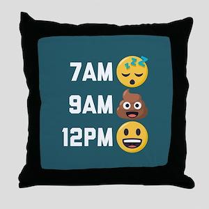 Emoji Times Throw Pillow