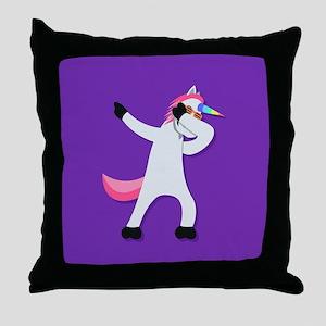 Unicorn Dab Throw Pillow