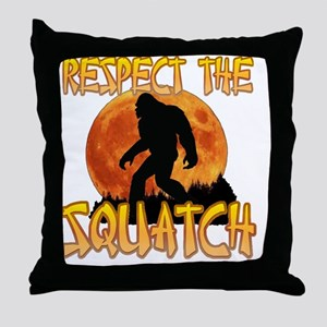 Respect the Squatch Throw Pillow