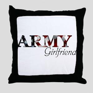 Army Girlfriend (Flag) Throw Pillow