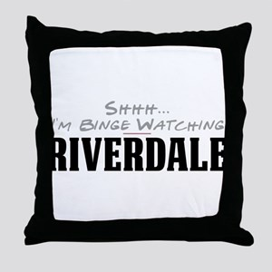 Shhh... I'm Binge Watching Riverdale Throw Pillow