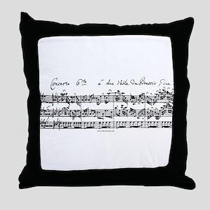 Bach's Brandenburg 6 Concerto Throw Pillow
