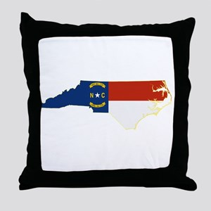 North Carolina Flag Throw Pillow