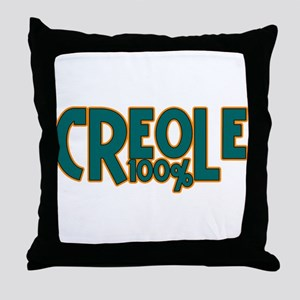 100% Creole Throw Pillow