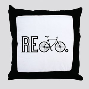 Re Bicycle Throw Pillow