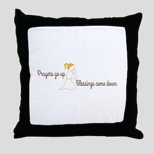 Prayers go up praying Throw Pillow