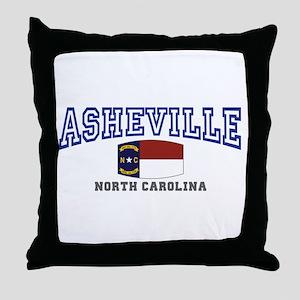 Asheville, North Carolina, NC, USA Throw Pillow