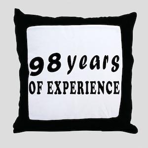 98 years birthday designs Throw Pillow
