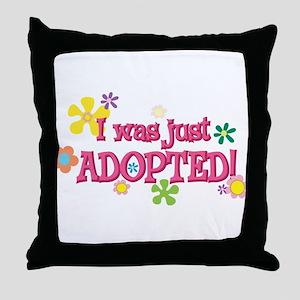 JUSTADOPTED44 Throw Pillow