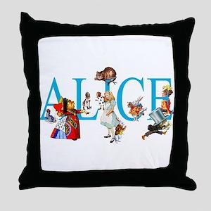 ALICE & FRIENDS IN WONDERLAND Throw Pillow