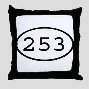 253 Oval Throw Pillow