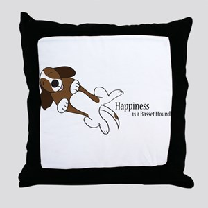 Basset Love Throw Pillow