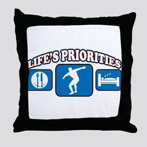 Life's Priorities Discus Throw Pillow