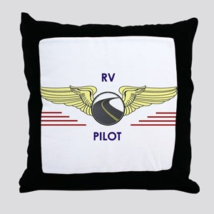 RV Pilot Throw Pillow