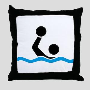waterpolo Throw Pillow