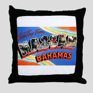 Nassau Bahamas Greetings Throw Pillow