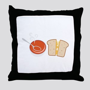 Soup  & Sandwich Throw Pillow