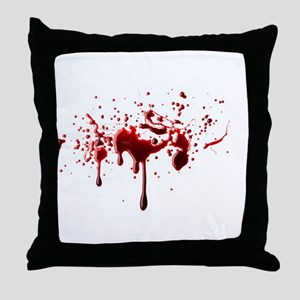 blood spatter 3 Throw Pillow