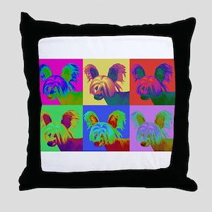 Op Art Crestie Throw Pillow