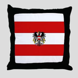 Austrian National Flag Throw Pillow