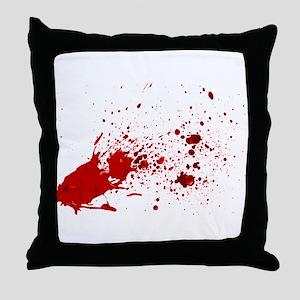 blood splatter 1 Throw Pillow