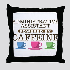 Administrative Assistant Powered by Caffeine Throw