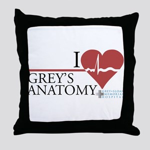 I Heart Grey's Anatomy Throw Pillow