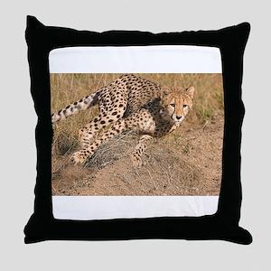 Cheetah On The Move Throw Pillow