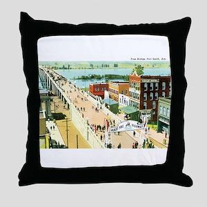 Fort Smith Arkansas Throw Pillow